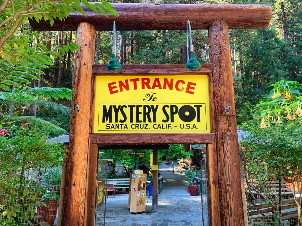 Mystery Spot Sign in the Santa Cruz Mountains