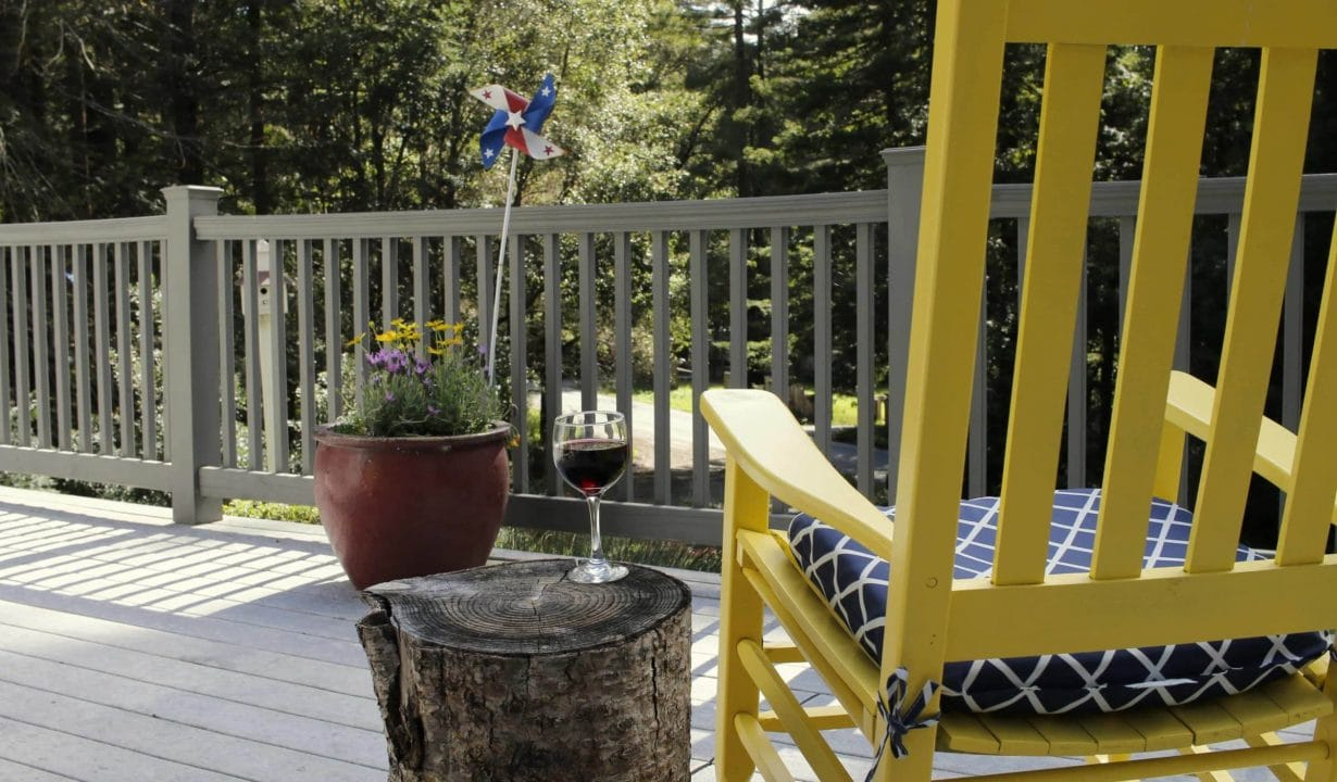 The Cottage at Where Water Falls Deck
