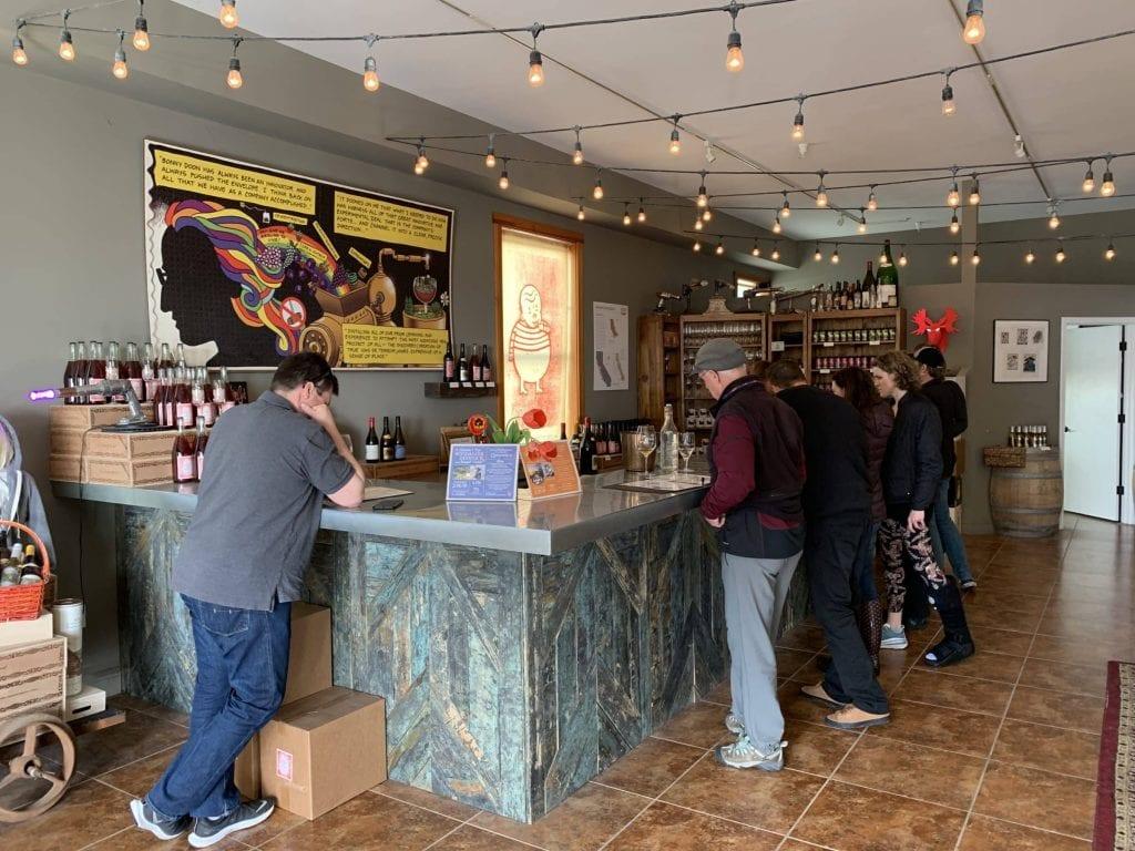 Tasting Room at Bonny Doon Vineyards