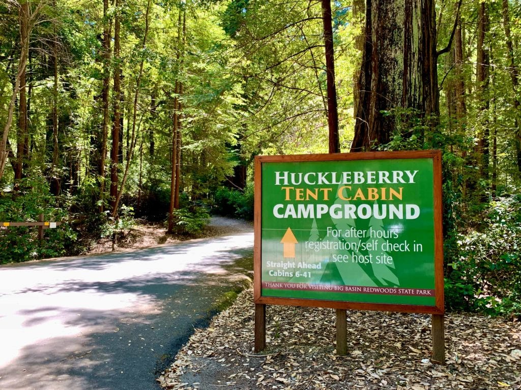 Huckleberry Campground Sign