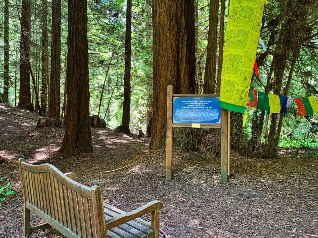 Land of Medicine Buddha Eight Verses Trail Sign