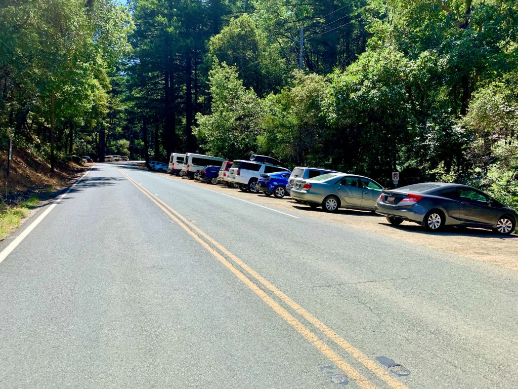 Parking at Castle Rock State Park