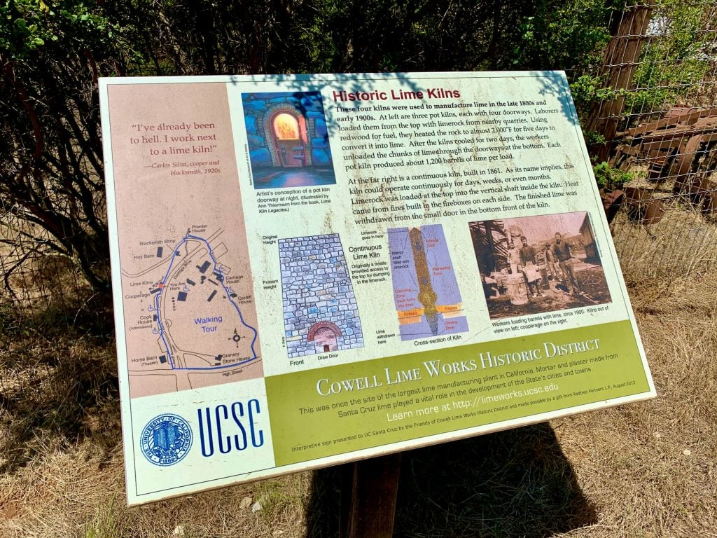 UCSC Lime Kiln History Sign