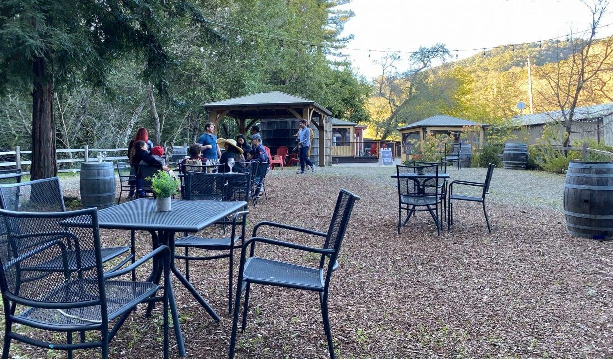 Outdoor Seating at Fernwood Cellars